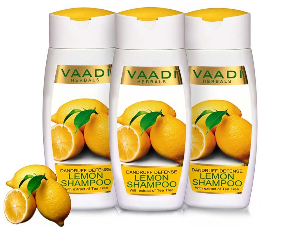 Pack of  3 Dandruff Defense LEMON SHAMPOO with extract of Tea Tree (110 ml x 3)