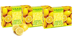 Pack of 3 REFRESHING LEMON AND BASIL SOAP (75 gms x 3)