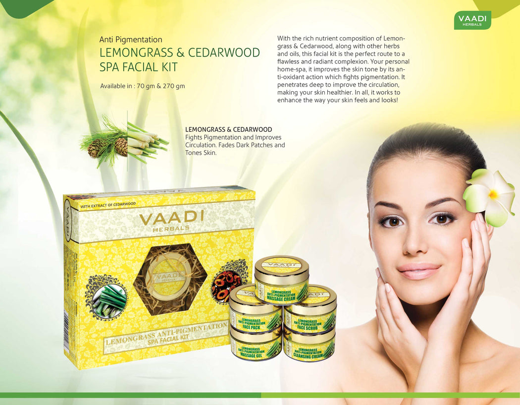 Lemongrass Anti-Pigmentation SPA Facial Kit With Cedarwood Extract (70 gms)