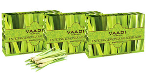 Pack of 3 ENTICING LEMONGRASS SCRUB SOAP (75 gms X 3)
