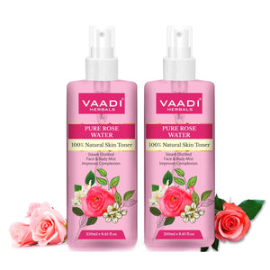 Rose Water - 100% Natural & Pure (250 ml x 2)