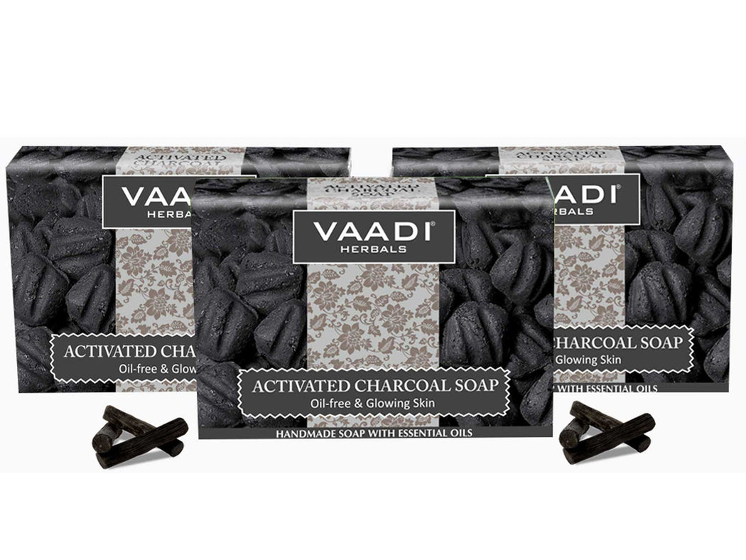 Pack of 3 Activated Charcoal Soap (3 X 75 gms)