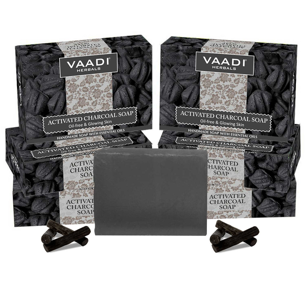 Pack of 6 Activated Charcoal Soap (6 X 75 gms)