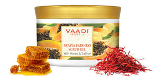 Papaya Fairness Scrub Gel With Honey & Saffron (500 gms)