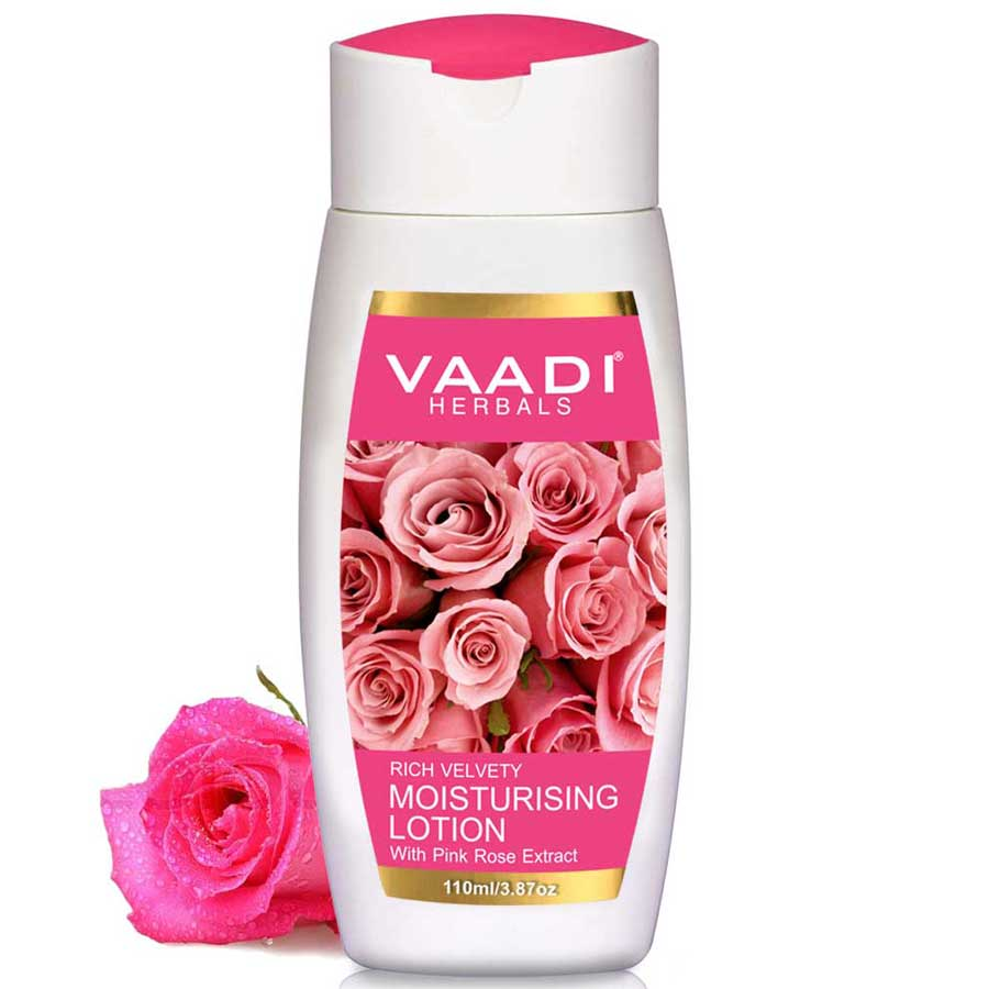Rich Velvety Moisturising Lotion with Pink Rose Extract (110 ml)