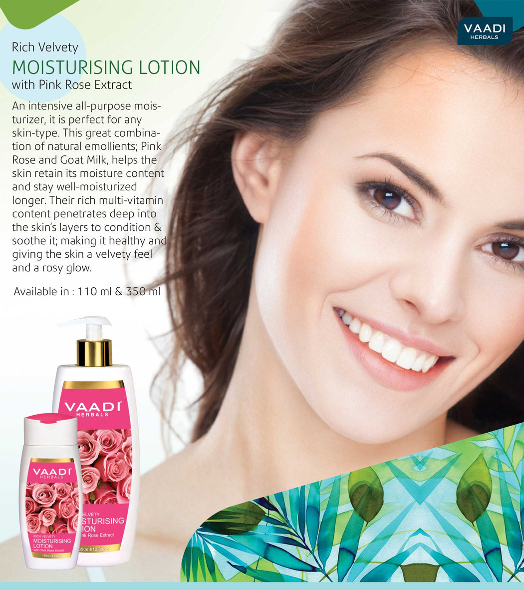 Pack of 3 Moisturising Lotion With Pink Rose Extract (110 ml x 3)