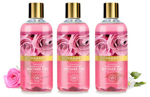 Pack of 3 Enchanting Rose & Mogra Shower Gel (300 ml x 3)