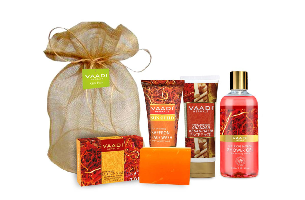 Luxurious Saffron - Skin Whitening Set (555 gms)