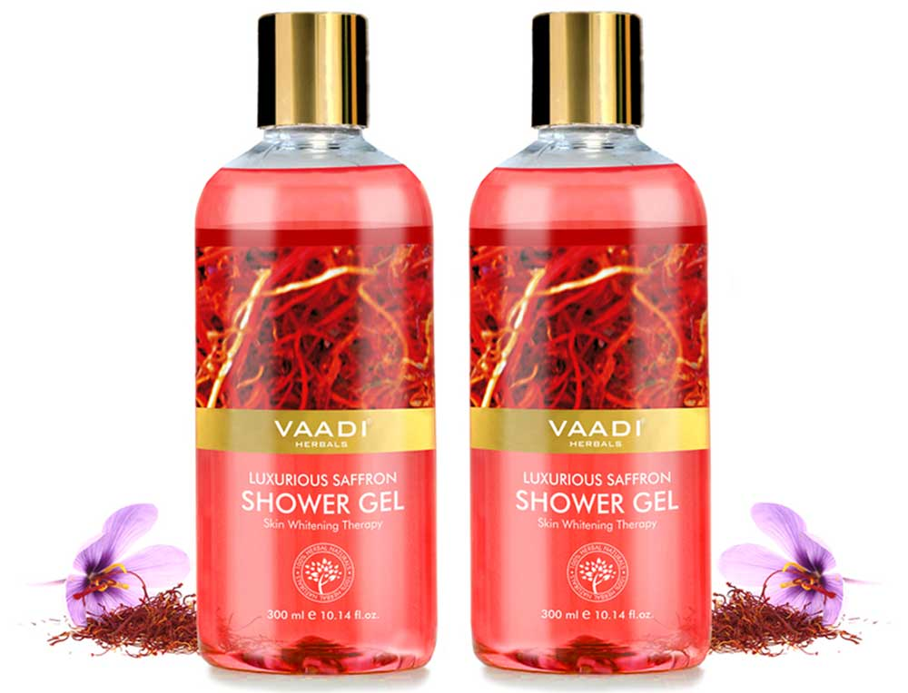 Pack of 2  Luxurious Saffron Shower Gel (300 ml x 2)