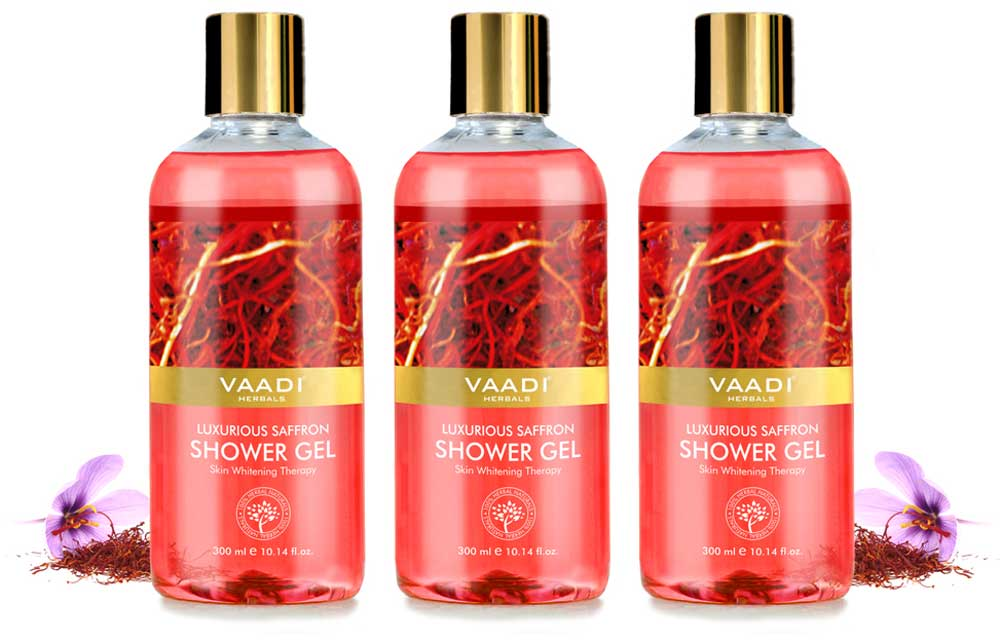 Pack of 3 Luxurious Saffron Shower Gel (300 ml x 3)