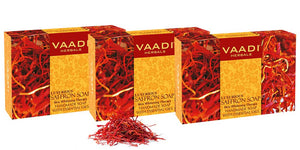 Pack of 3 Luxurious Saffron Soap - Skin Whitening Therapy (75 gms x 3)