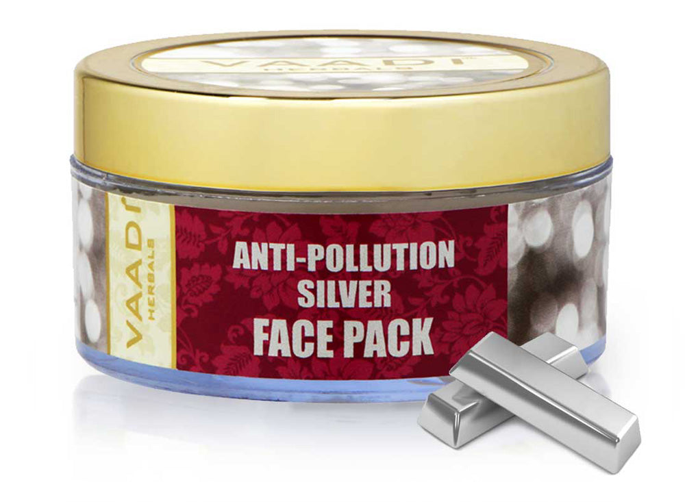 Silver Face Pack - Pure Silver Dust & Lavender Oil (70 gms)