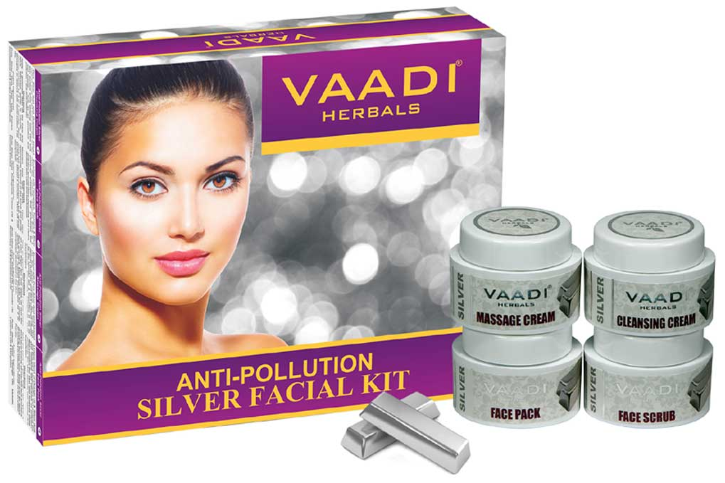 Silver Facial Kit - Pure Silver Dust, Rosemary & lavender Oil, Sandalwood Paste (70 gms)