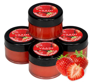 Pack of 4 Lip Balm - Strawberry & Honey (10 gms x 4 )