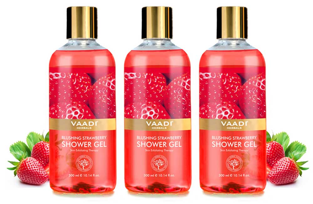 Pack of 3 Blushing Strawberry Shower Gel (300 ml x 3)