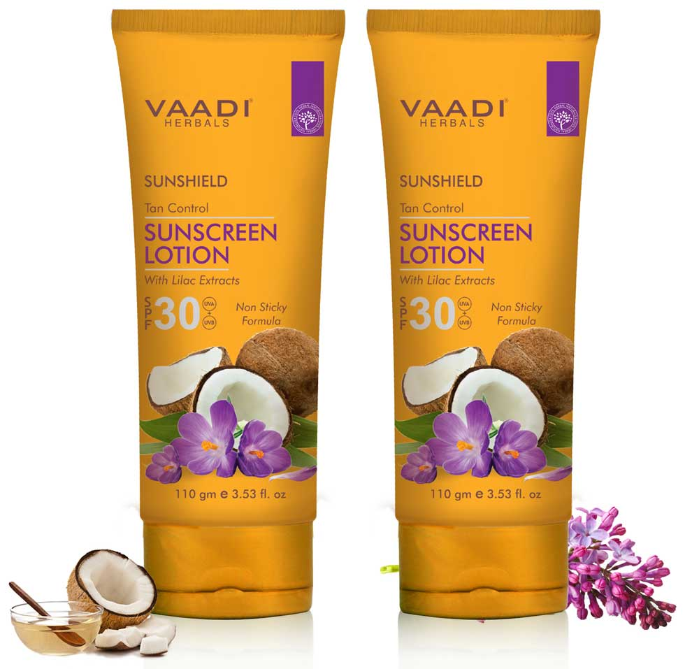 Pack of 2 Sunscreen Lotion SPF-30 with Lilac Extract (110 ml x 2)