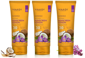 Pack of 3 Sunscreen Lotion SPF-30 with Lilac Extract (110 ml x 3)