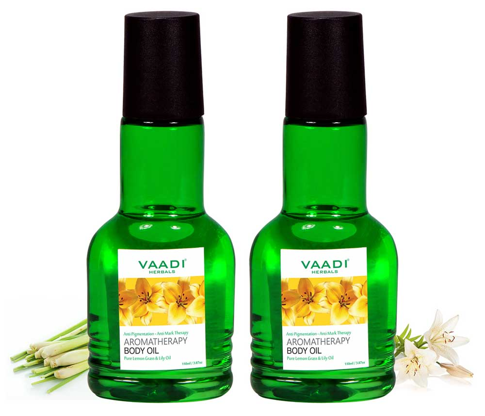 Pack of 2 Aromatherapy Body Oil-Lemongrass & Lily Oil (110 ml X 2)