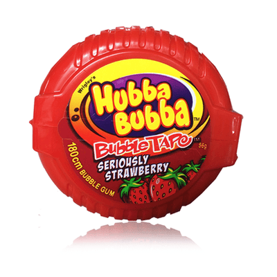 HUBBA BUBBA TAPE STRAWBERRY 56G - DATED