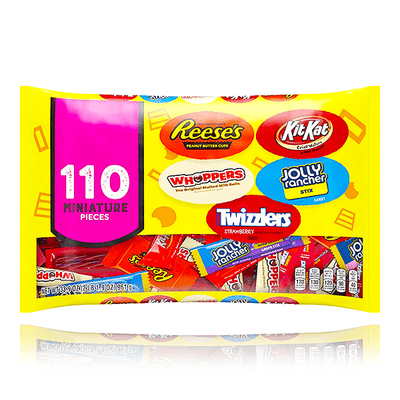 HERSHEY'S CANDY ASSORTMENT 110 MINIATURE PIECES