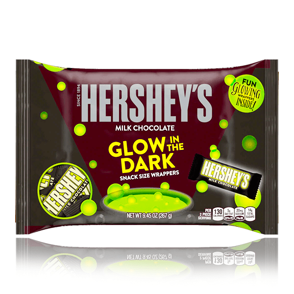 HERSHEY'S MILK CHOCOLATE GLOW IN THE DARK BAG LIMITED EDITION 267g