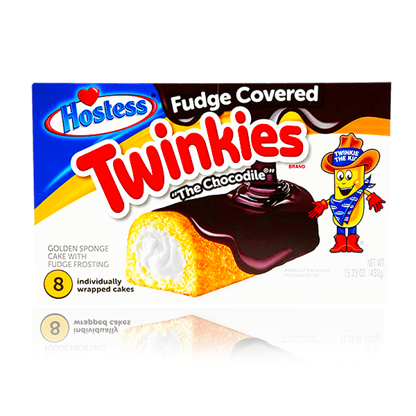 HOSTESS CHOCOLATE FUDGE COVERED TWINKIE BOX