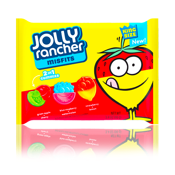 JOLLY RANCHER MISFITS 2 IN 1 GUMMIES BAG 96g
