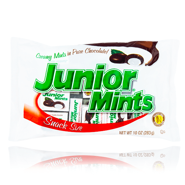 JUNIOR MINTS SNACK SIZE LARGE BAG 283G DAMAGED