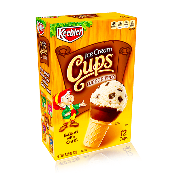 KEEBLER ICE CREAM CUPS FUDGED DIPPED 92G