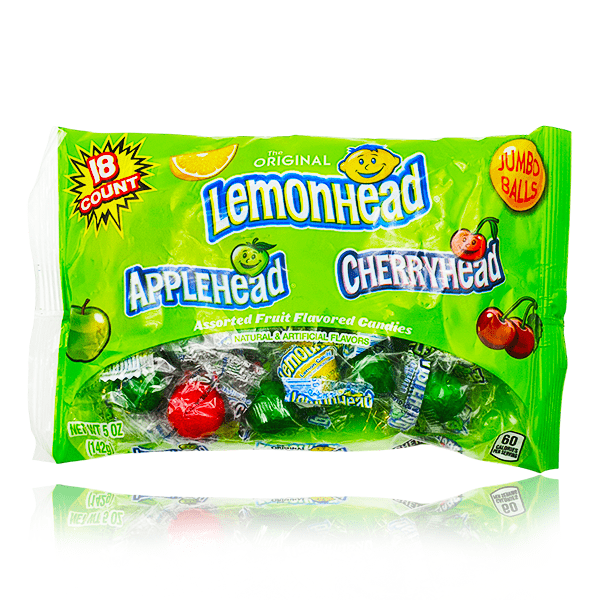 LEMONHEAD, APPLEHEAD & CHERRYHEAD MIXED JUMBO BALLS BAG 142G