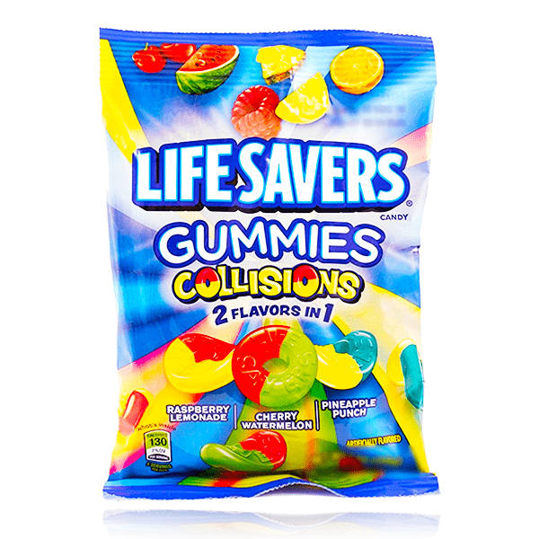 LIFESAVERS GUMMIES COLLISIONS BAG 2 IN 1 FLAVOURS 102g