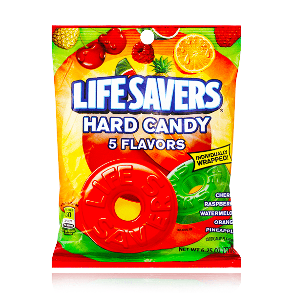 LIFESAVERS 5 FLAVOURS HARD CANDY BAG 177G