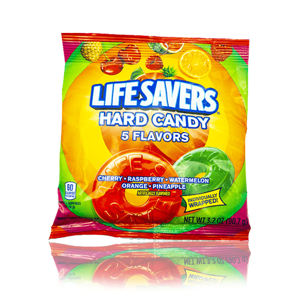 LIFESAVERS 5 FLAVOURS HARD CANDY BAG 90.7G