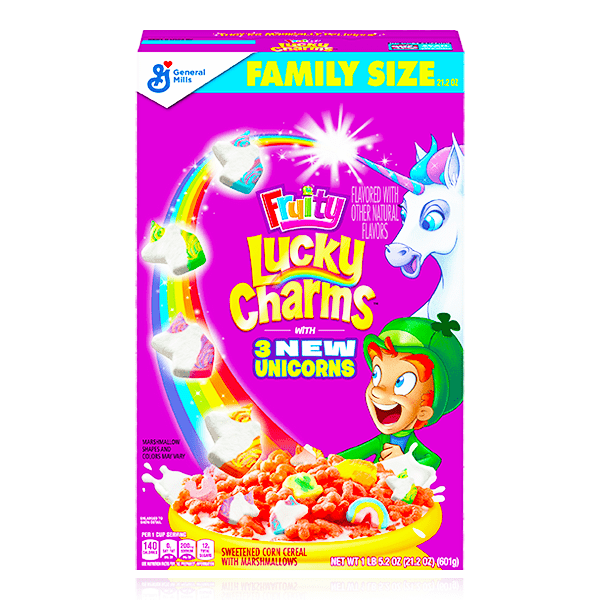 LUCKY CHARMS FRUITY CEREAL 601g