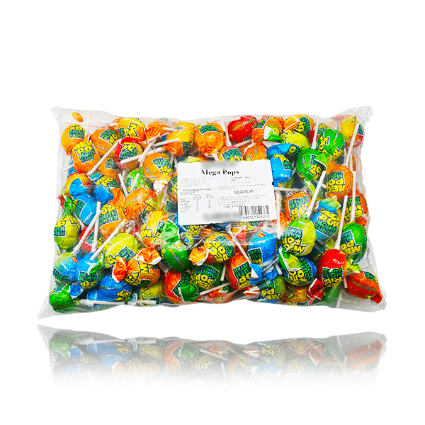 MEGA POPS LOLLIPOPS BAG 150 PIECES 4.2kg