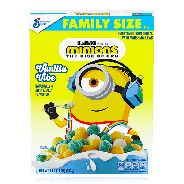 MINIONS THE RISE OF GRU VANILLA VIBE FAMILY SIZE CEREAL 453G