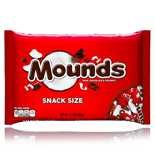 HERSHEY'S MOUNDS FUN SIZE LARGE BAG 320G