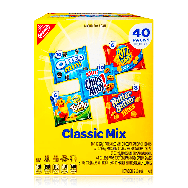 NABISCO CLASSIX MIX VARIETY PACK 40 COUNT