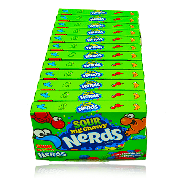 NERDS BIG CHEWY SOUR THEATRE BOX 120G 12 PACK