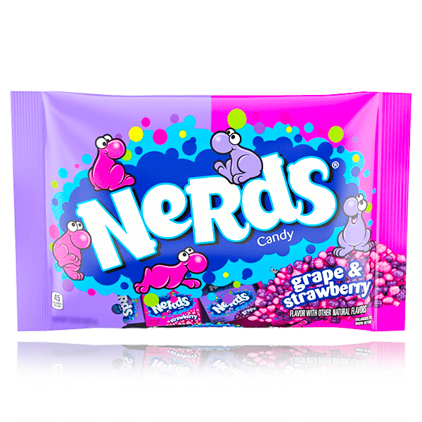 NERDS GOTTA HAVE GRAPE & SERIOUSLY STRAWBERRY MINI BOXES BAG 255g