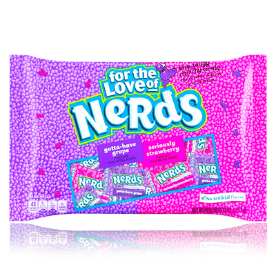 NERDS GOTTA HAVE GRAPE & SERIOUSLY STRAWBERRY MINI BOXES BAG 340g