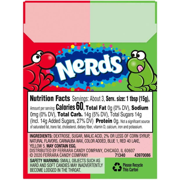 NERDS CHERRY & WATERMELON 46g 36 PACK