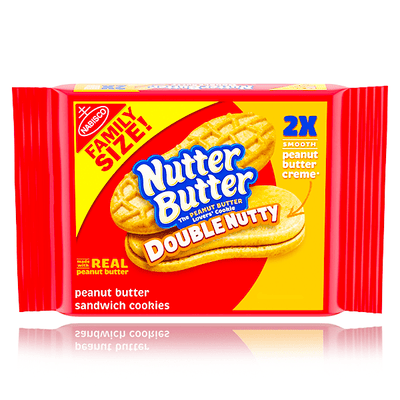 NUTTER BUTTER DOUBLE NUTTY COOKIES FAMILY SIZE 432G