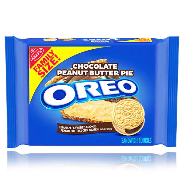 OREO CHOCOLATE PEANUT BUTTER PIE FAMILY SIZE 482G