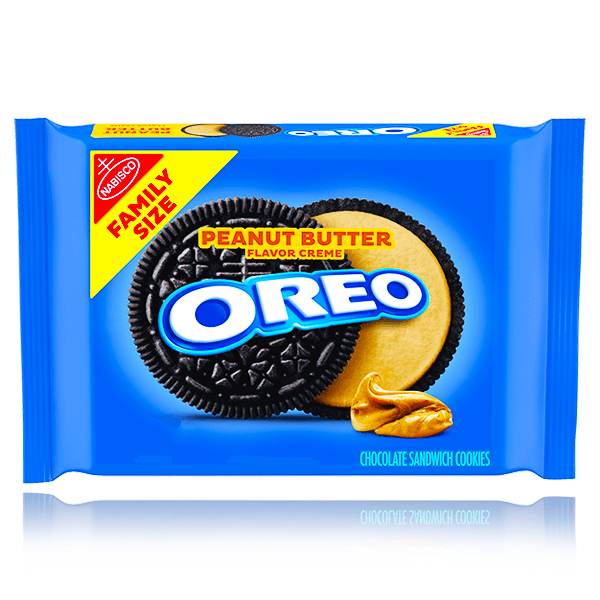OREO PEANUT BUTTER CREME FAMILY SIZE 482G