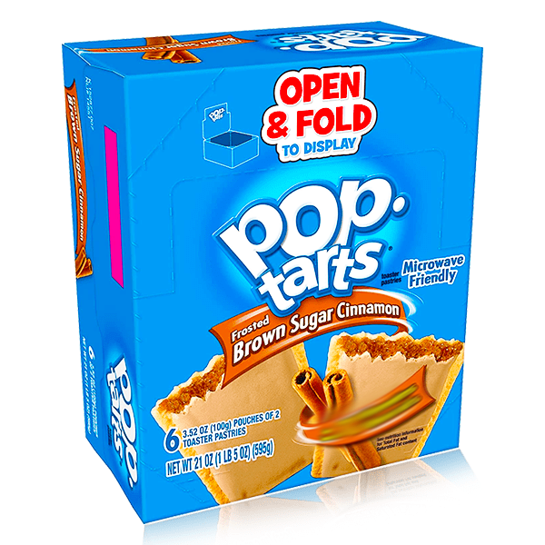 POPTARTS FROSTED BROWN SUGAR CINNAMON 6 PACK