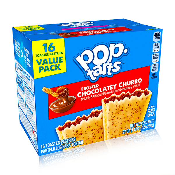 POPTARTS FROSTED CHOCOLATEY CHURRO 16 PACK