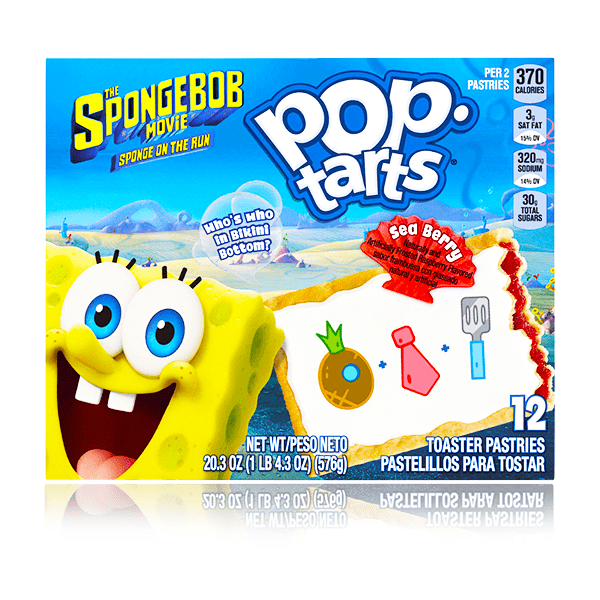 POPTARTS SPONGEBOB SEA BERRY 12 PACK 576G