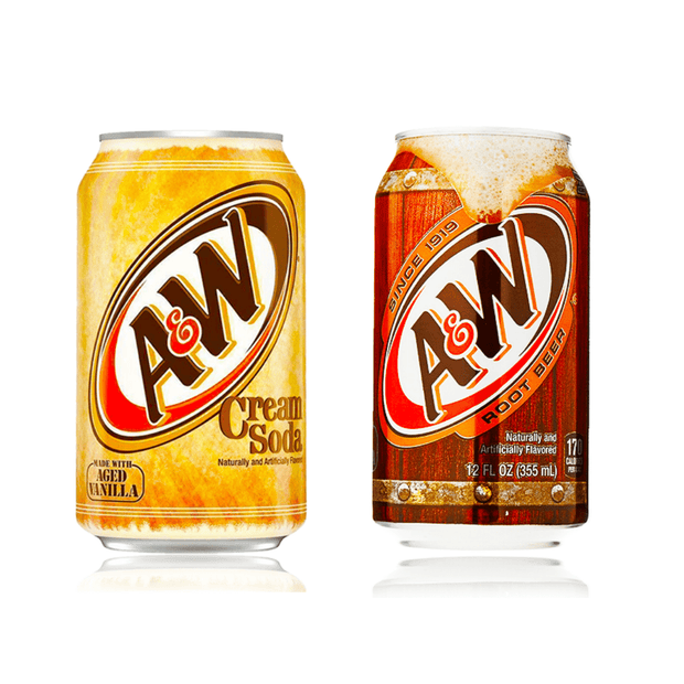 A&W DRINK CANS ASSORTED FLAVOURS