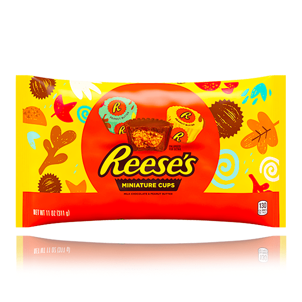 REESE'S PEANUT BUTTER CUPS MINIATURES LARGE BAG 311g